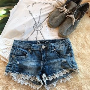 Lace Trim Shorts ❤️5 for $25❤️